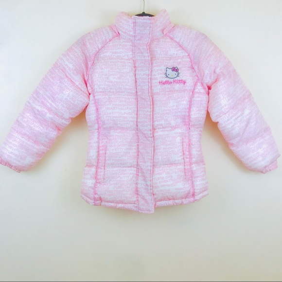 906b1623e Sanrio Jackets & Coats | Hello Kitty Pink Kids Puffer Jacket Coat ...